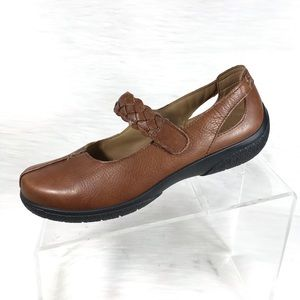 Hotter Mary Jane Shoes Brown Leather Size 7.5